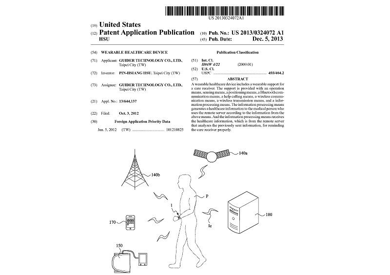 健康智慧手錶美國專利
