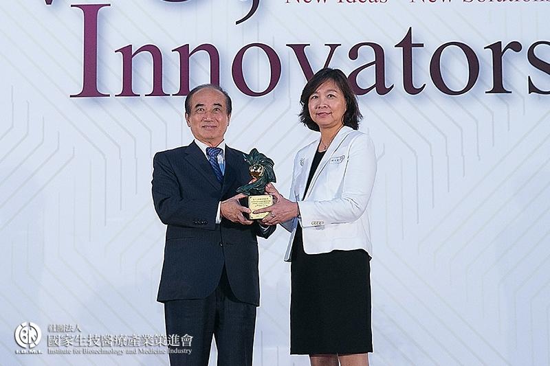 企業新創獎 製藥及新醫療技術組獲獎:台睿生物科技股份有限公司-口服小分子抗癌新藥TRX-818之開發