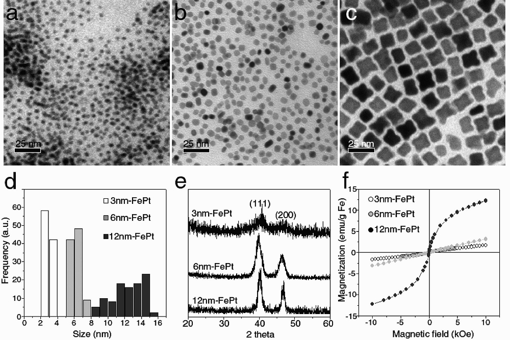 FePt奈米粒子的特性分析