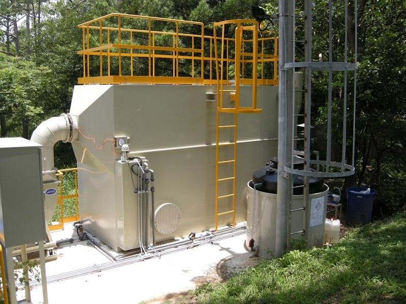 科學園區汙水廠臭味去除系統