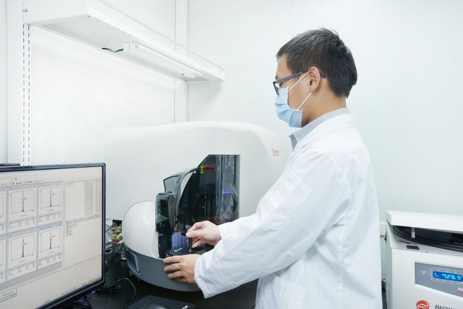 富禾生醫測試實驗室 & 流式細胞儀操作