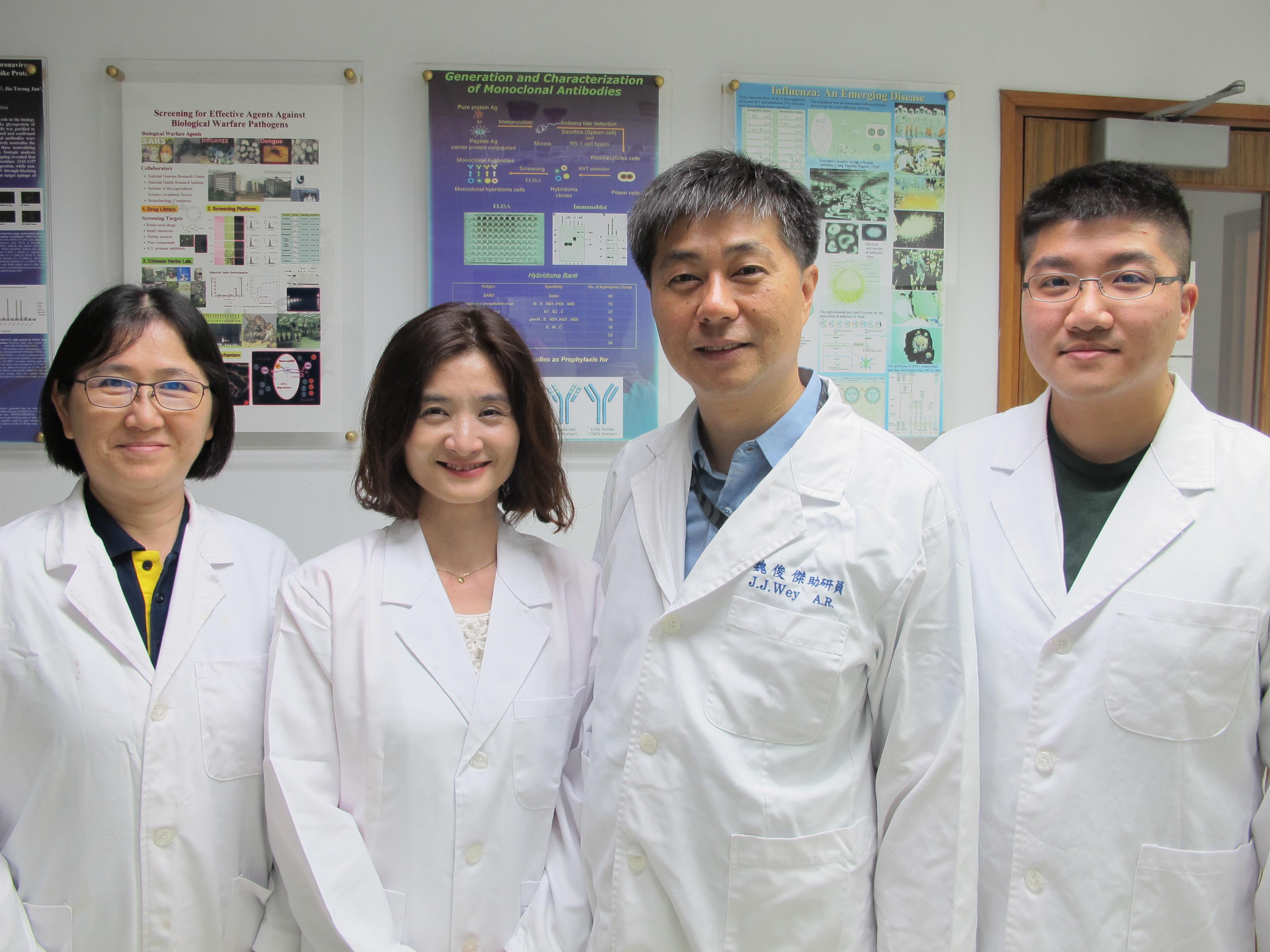 新穎性抗體研發團隊成員