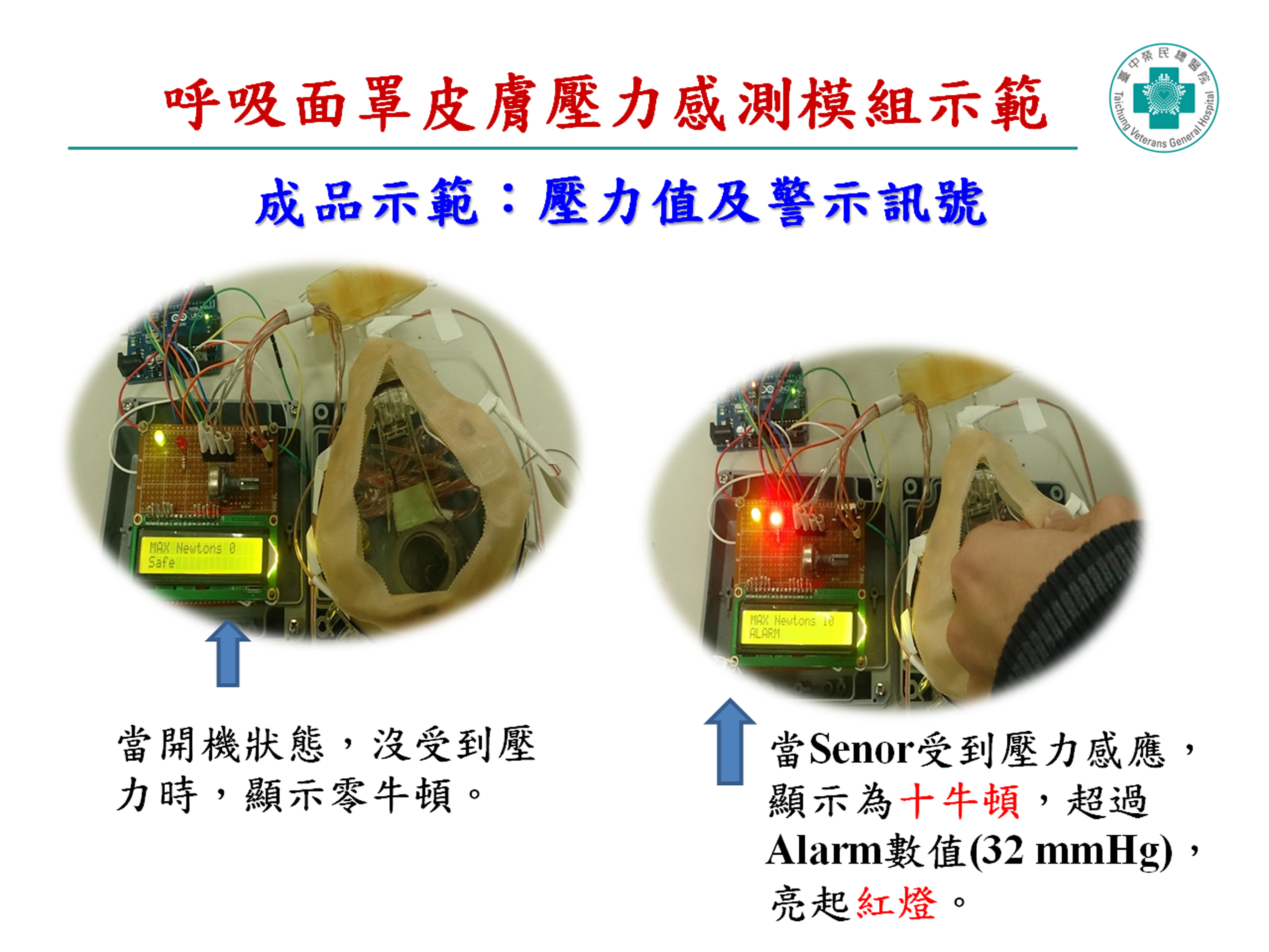 LCD壓力值顯示器及警鳴紅燈警示