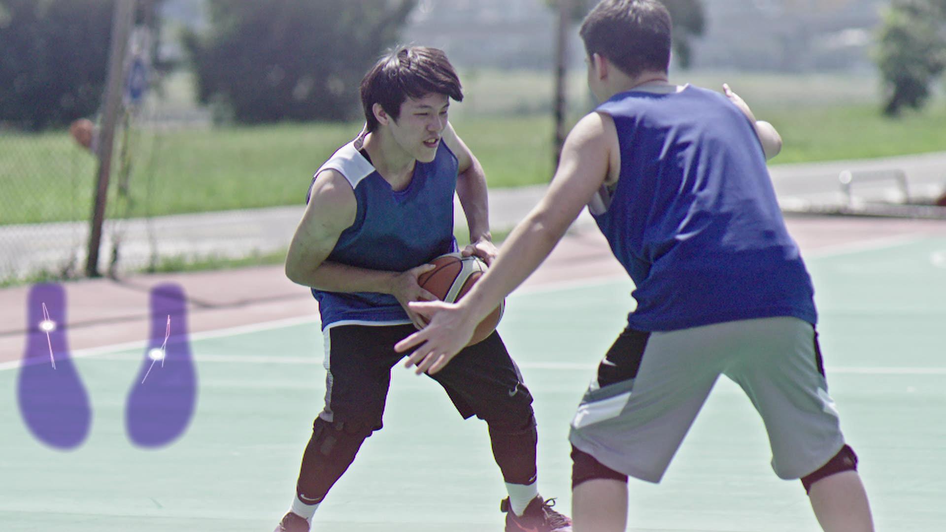 SaFePlay應用情境-籃球運動 足底重心軌跡