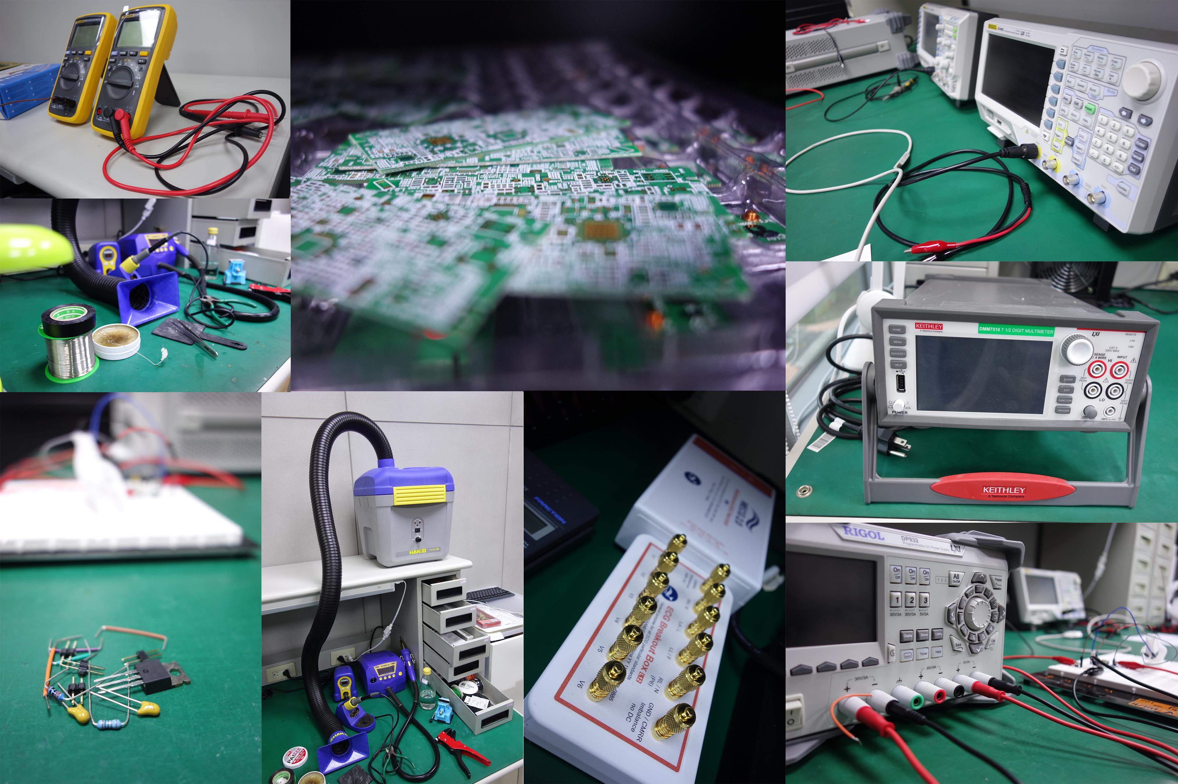 實驗室與任勞任怨的儀器們,產品的每一寸都是由這裡長出來的
