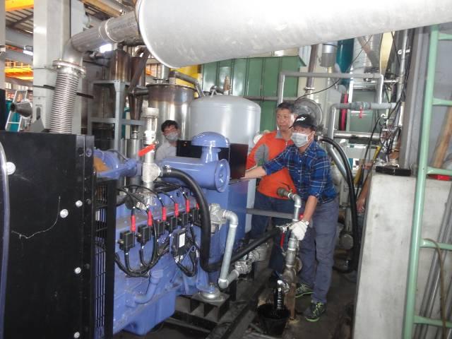 燃氣引擎發電測試