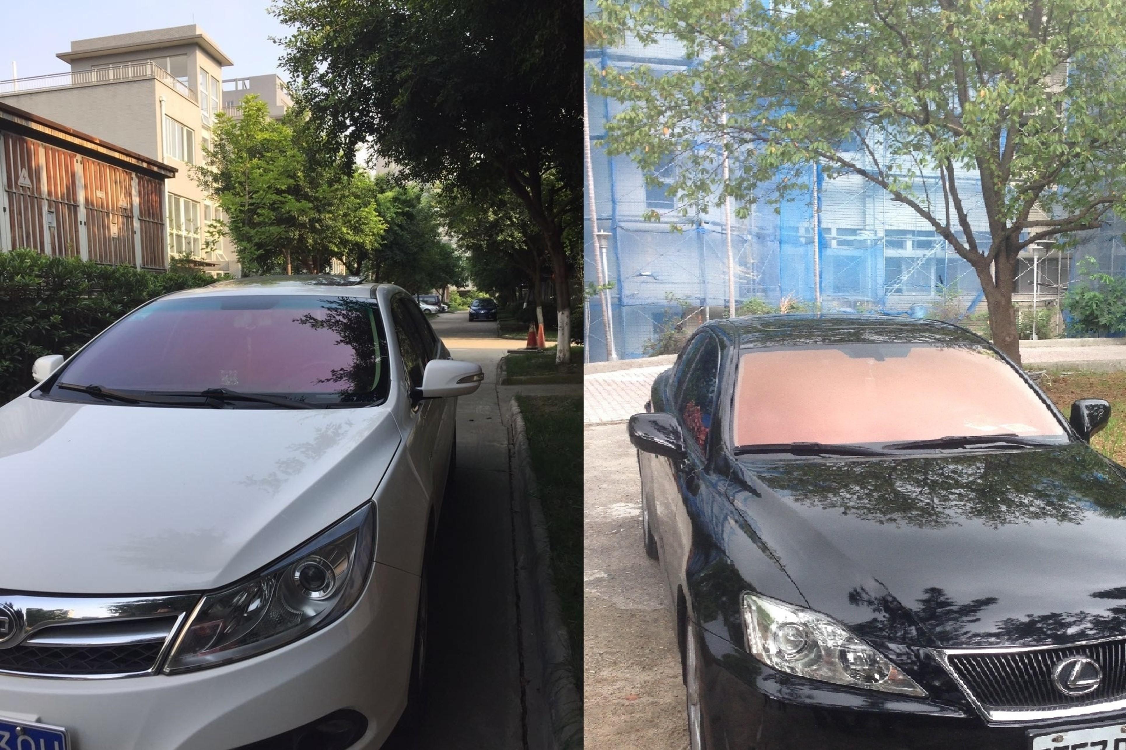 團隊開發的高階節能膜應用於汽車貼膜的例子