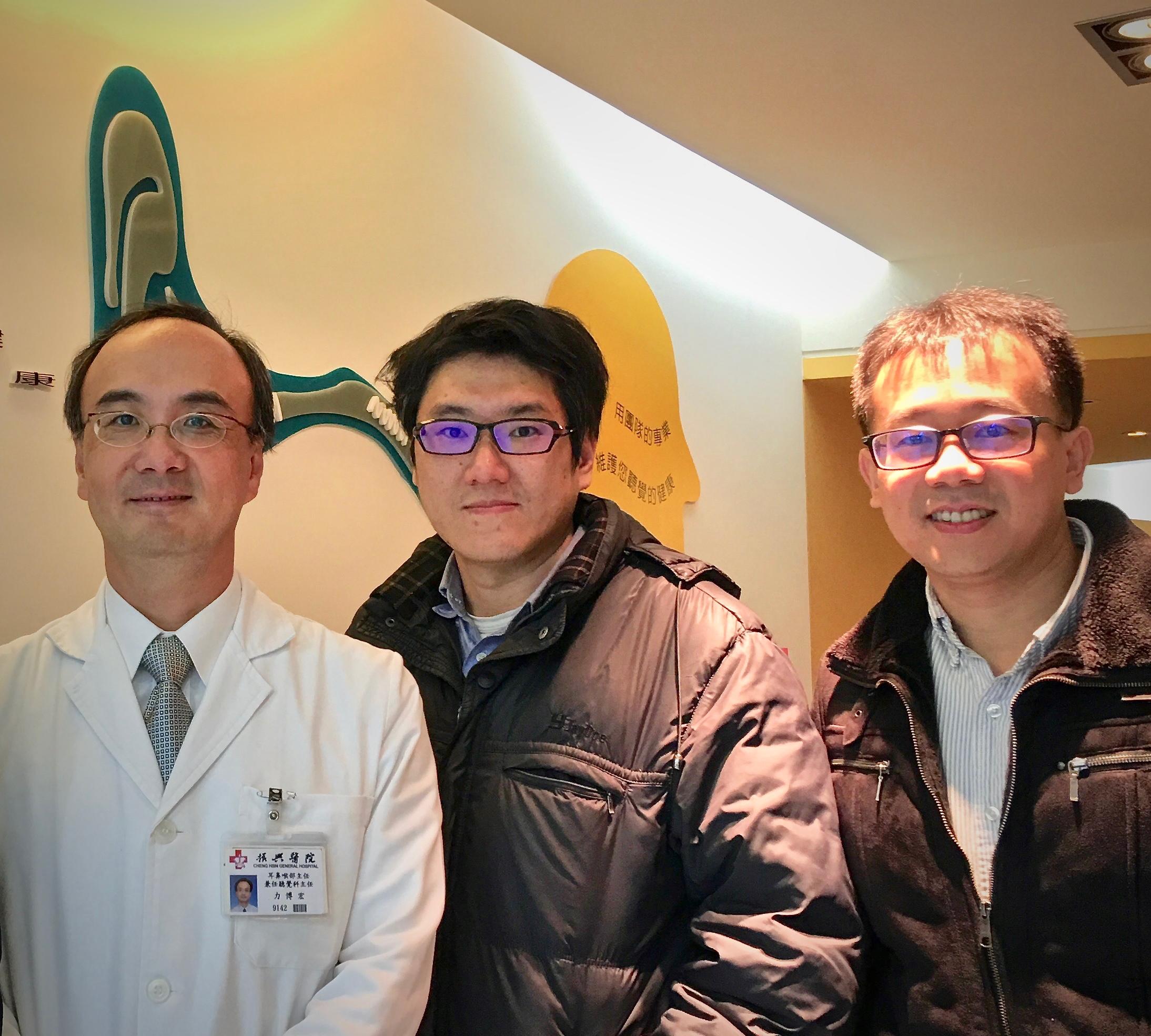 研發團隊PI,左起:振興力博宏主任,中研院曹昱博士,陽明賴穎暉博士