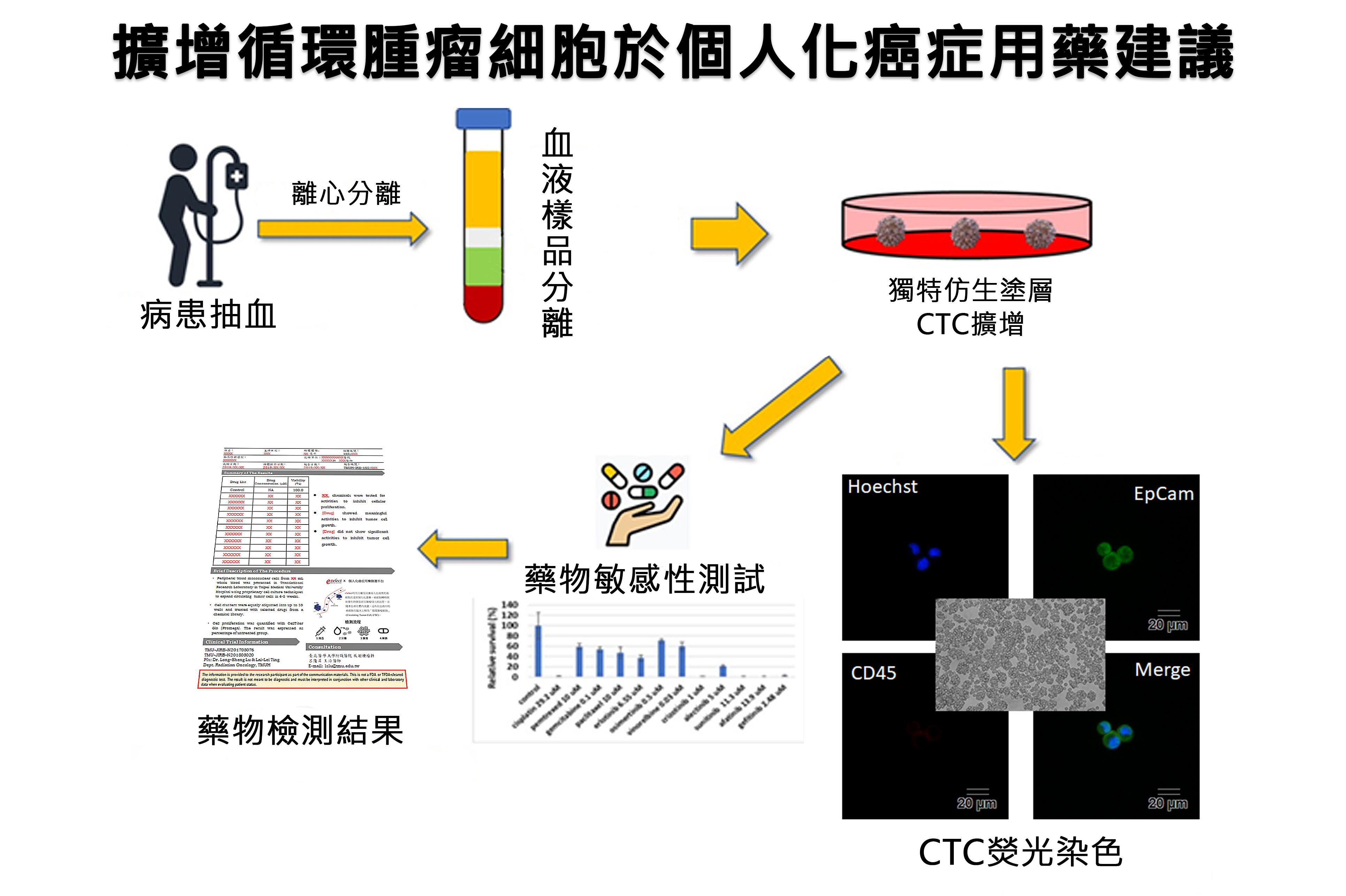 CTC擴增技術個人化癌症藥物測試流程