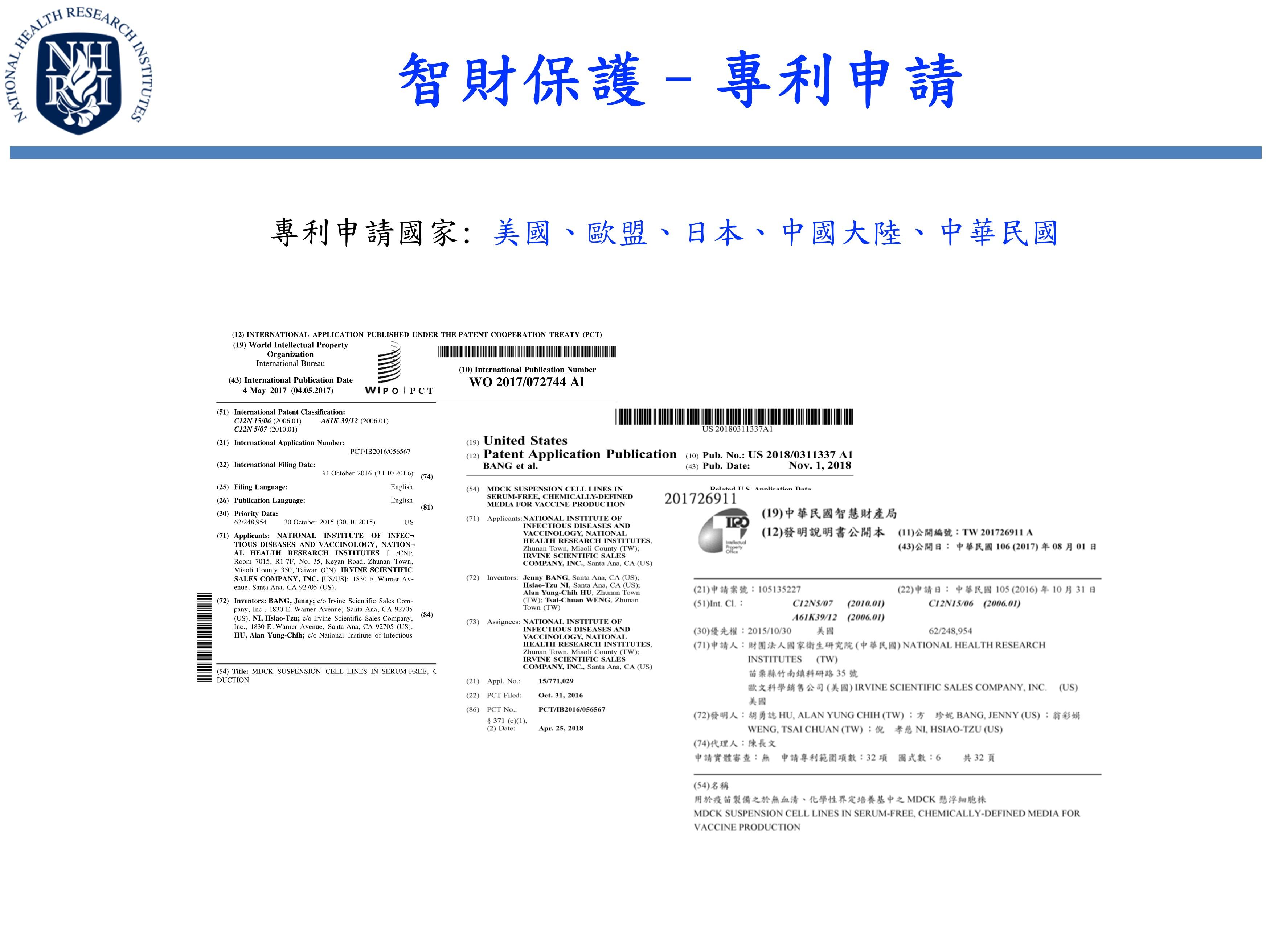 智財保護–專利申請