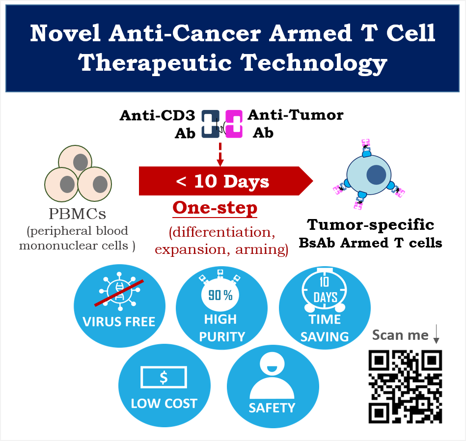 本創新的雙功能抗體(BsAb)培育腫瘤專一性T細胞之技術平台