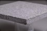 已獲得專利之「氣凝膠水泥砂漿」,具備耐燃一級,適合應用在建築外殼上,達到隔熱與防火之效能。