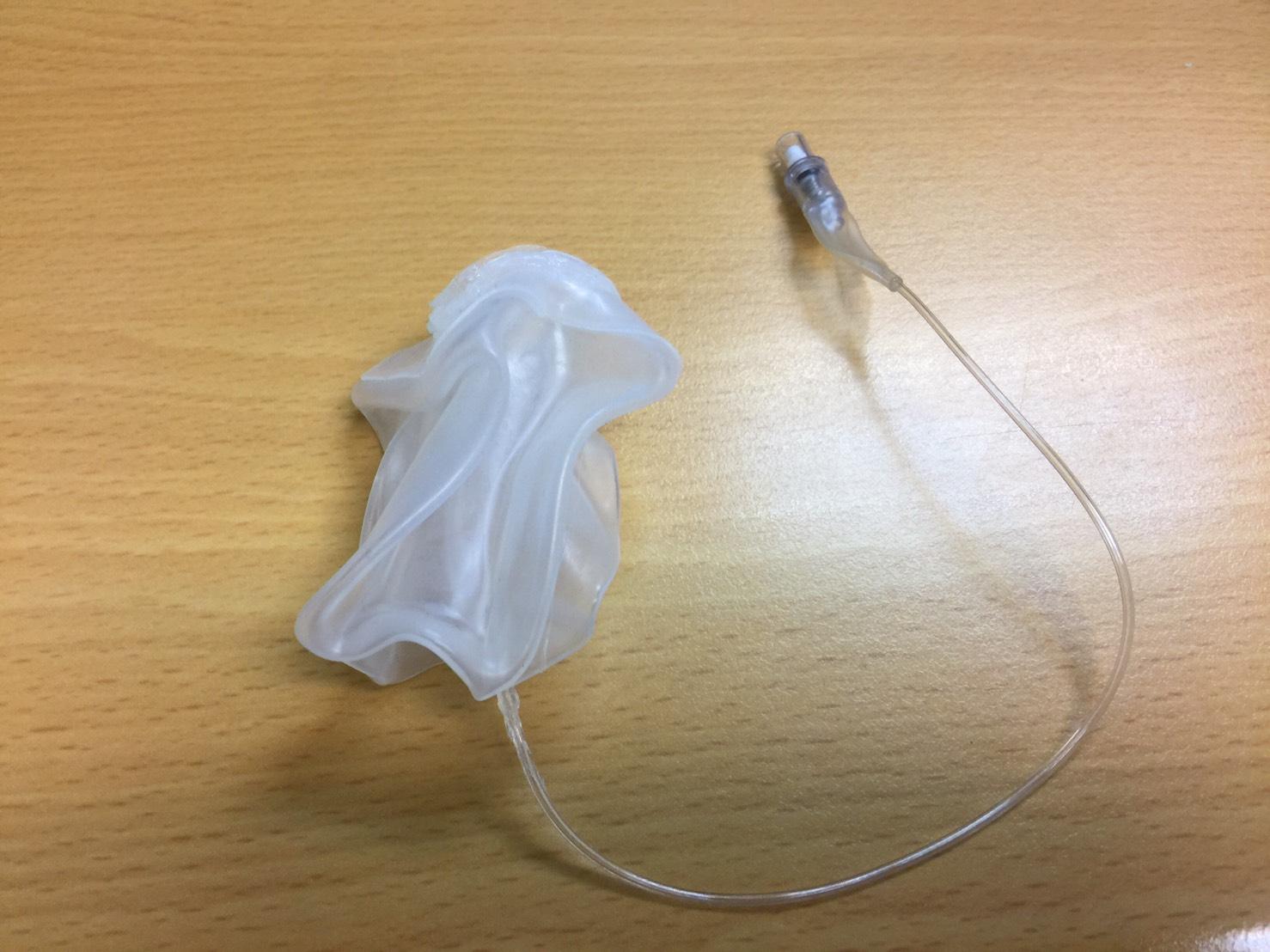 「術後及產後陰道止血子宮托」-未充氣圖