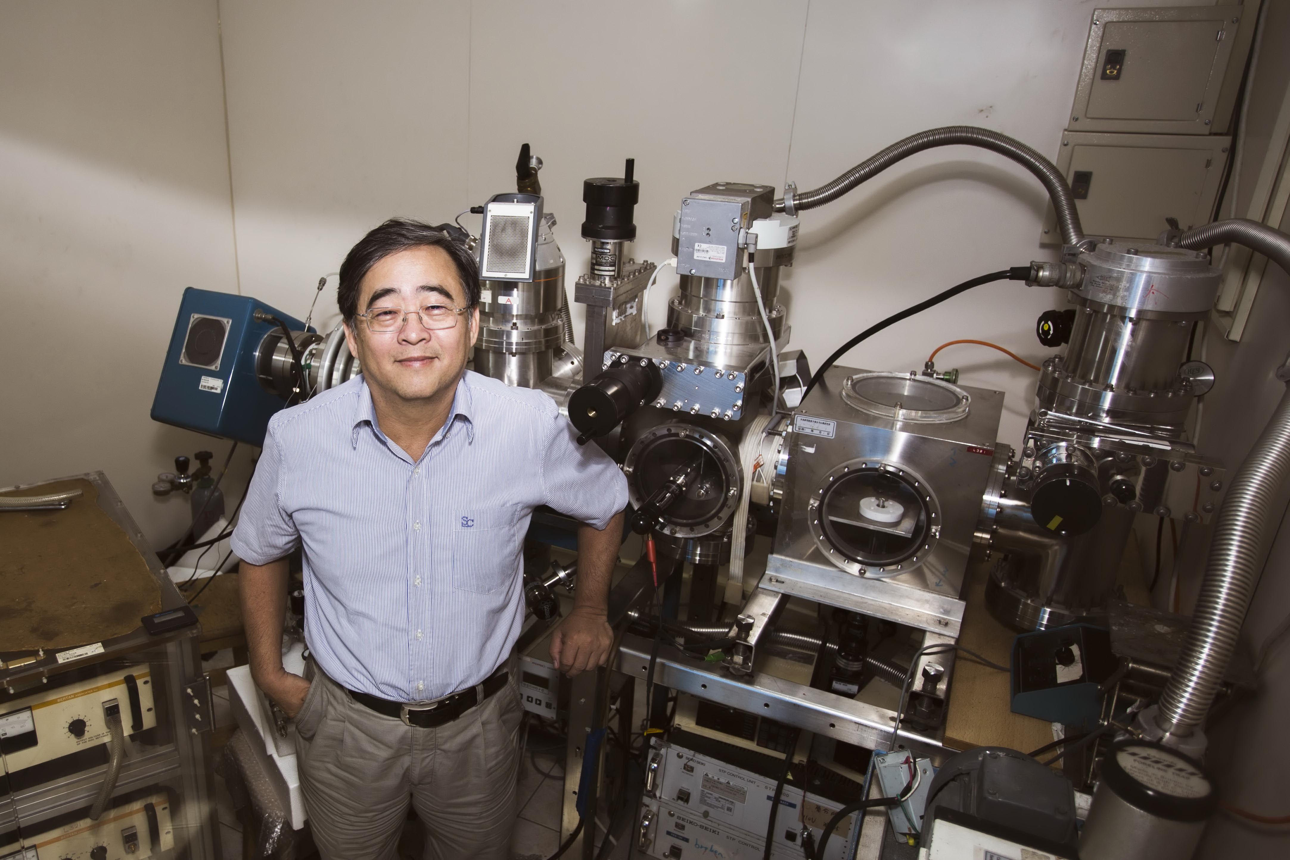 張煥正老師研究團隊自製之小型離子加速器,用於生產螢光奈米鑽石(取自中央研究院《研之有物》)