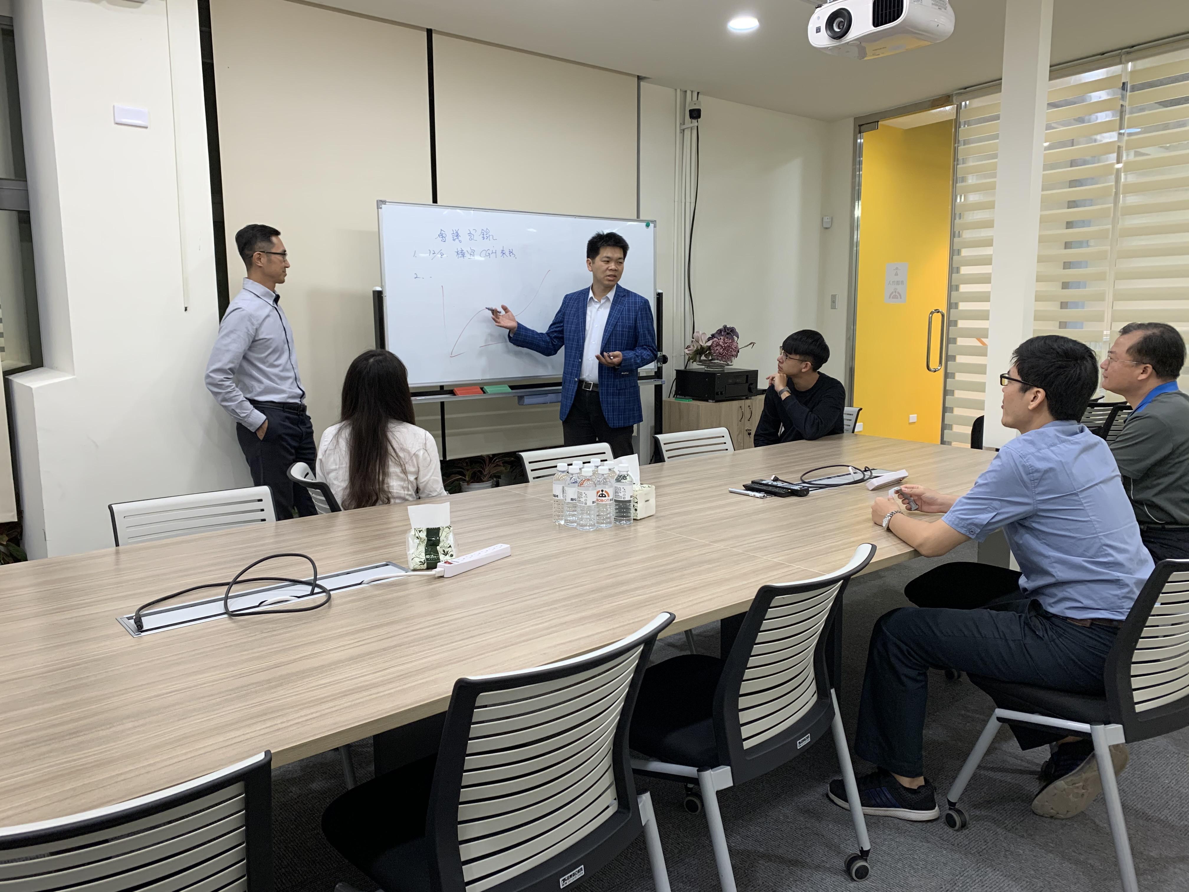 會議室臨床進度討論