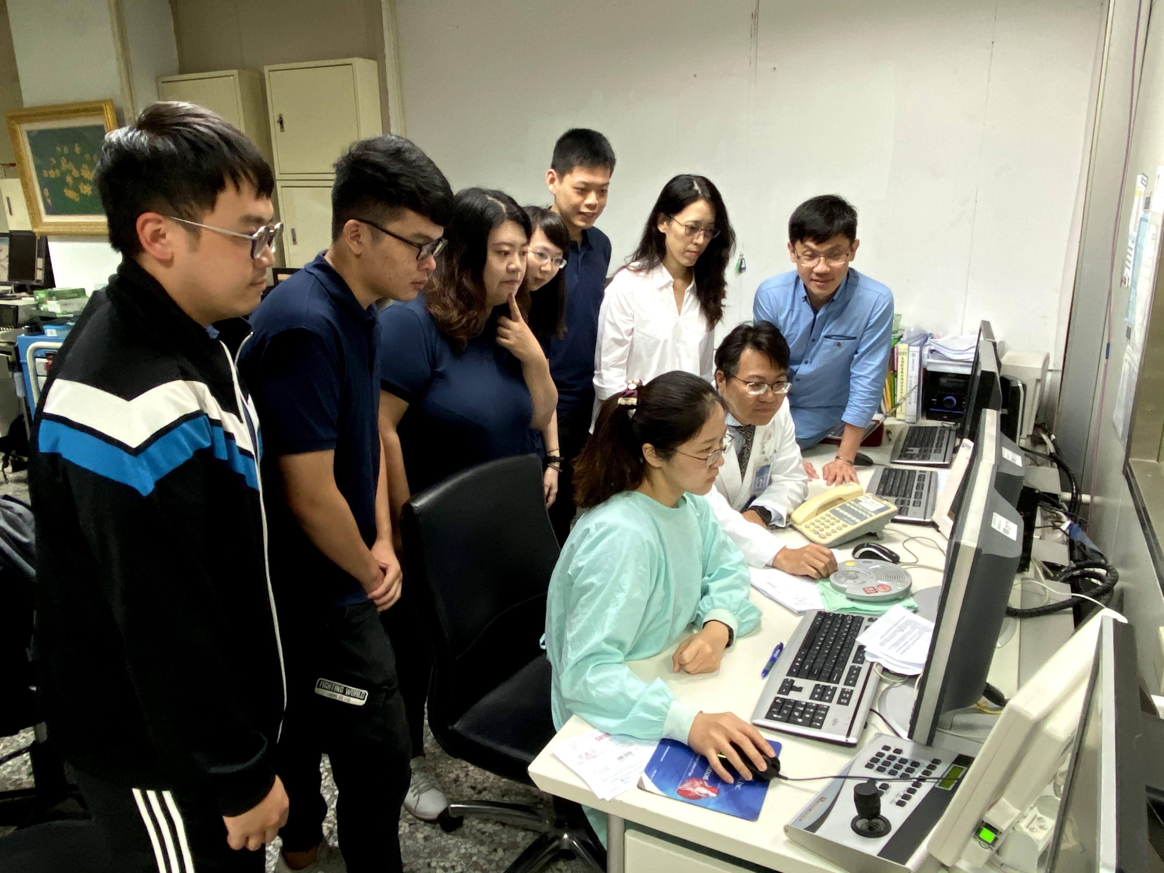 團隊於醫學影像部測試系統