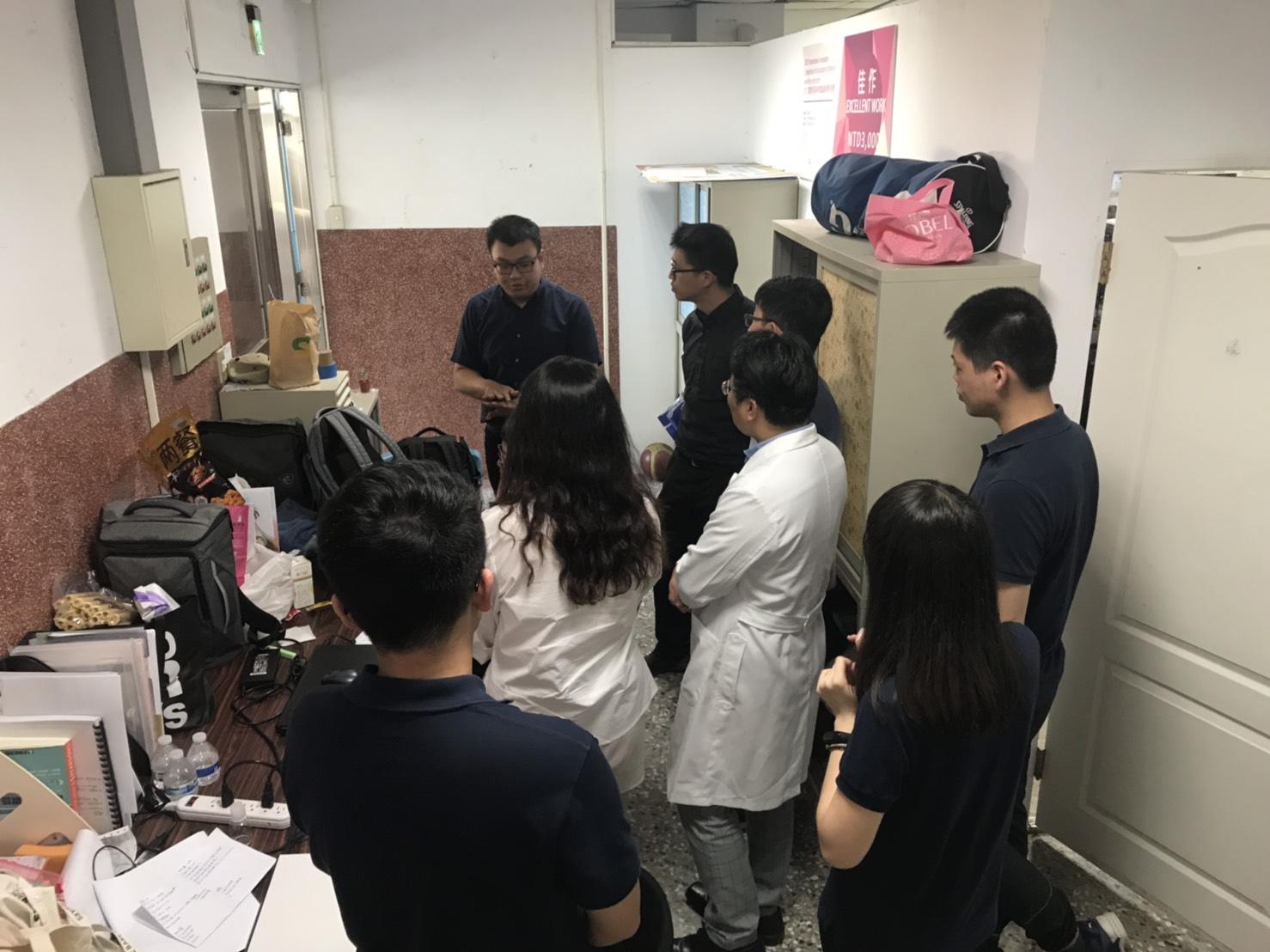 團隊於實驗室測試系統