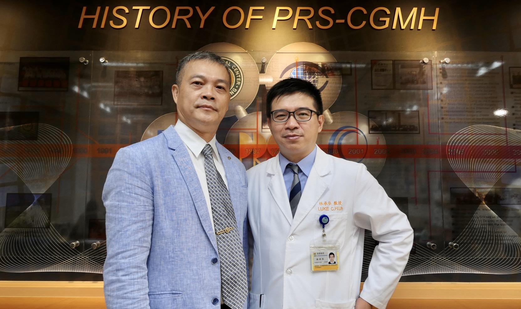 EZip™專利權人。 林承弘主任(圖右) 呂嘉明總經理(圖左)