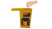 計數輔助型針灸集針盒-棄針置入集針盒示意圖