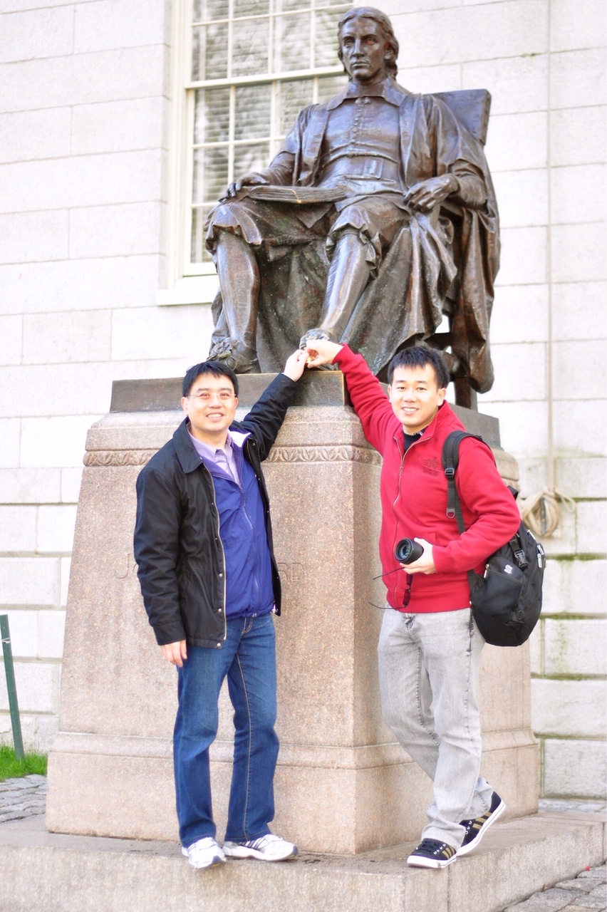 廖文輝醫師與賴穎暉博士哈佛大學