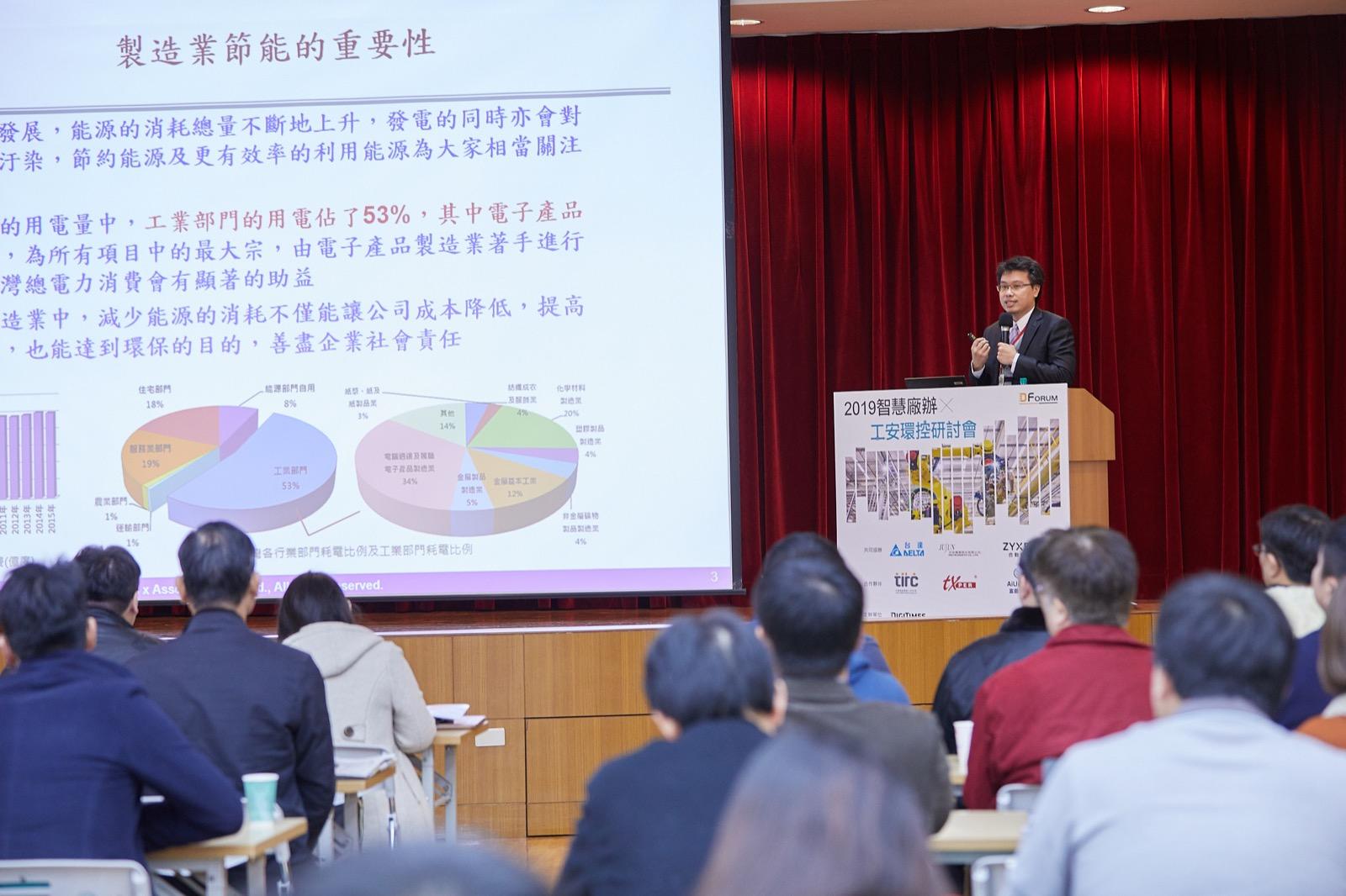 陳暎仁博士代表團隊於Digitimes舉辦之2019智慧廠辦與工安環控研討會分享研發技術